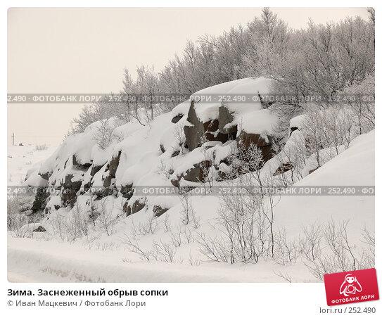Зима. Заснеженный обрыв сопки, фото № 252490, снято 8 марта 2008 г. (c) Иван Мацкевич / Фотобанк Лори