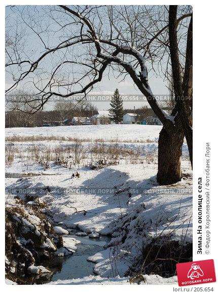 Купить «Зима.На околице села», фото № 205654, снято 16 февраля 2008 г. (c) Федор Королевский / Фотобанк Лори
