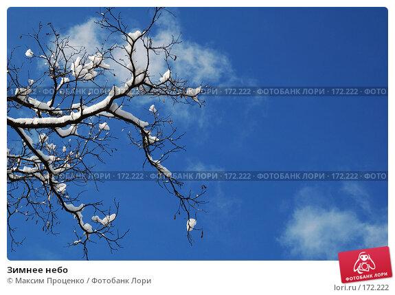 Купить «Зимнее небо», фото № 172222, снято 28 января 2007 г. (c) Максим Проценко / Фотобанк Лори