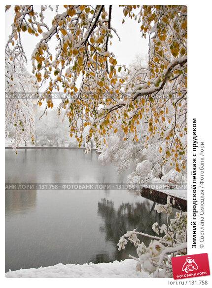 Зимний городской пейзаж с прудиком, фото № 131758, снято 15 октября 2007 г. (c) Светлана Силецкая / Фотобанк Лори