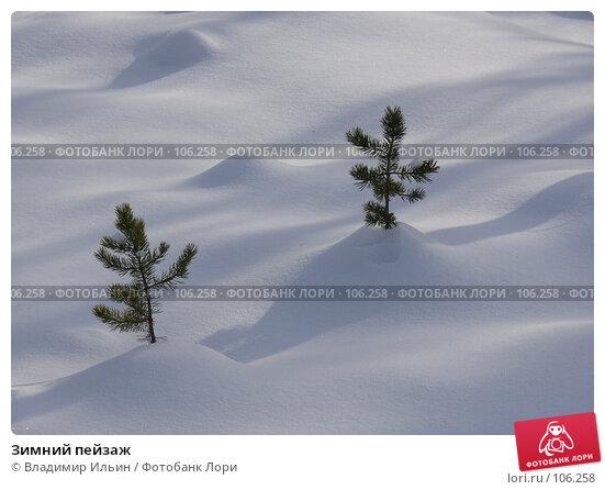 Зимний пейзаж, фото № 106258, снято 30 октября 2007 г. (c) Владимир Ильин / Фотобанк Лори