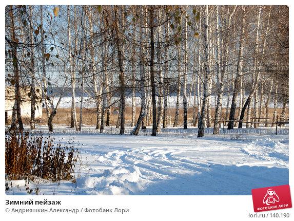 Зимний пейзаж, фото № 140190, снято 24 ноября 2007 г. (c) Андрияшкин Александр / Фотобанк Лори