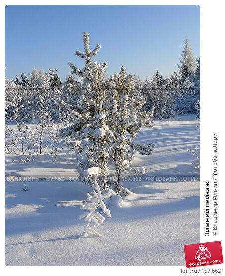 Зимний пейзаж, фото № 157662, снято 23 декабря 2007 г. (c) Владимир Ильин / Фотобанк Лори