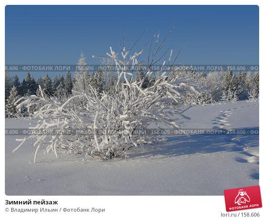 Зимний пейзаж, фото № 158606, снято 23 декабря 2007 г. (c) Владимир Ильин / Фотобанк Лори
