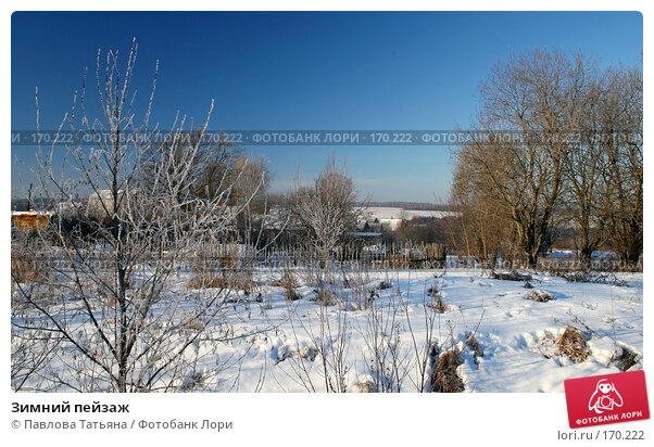 Зимний пейзаж, фото № 170222, снято 4 января 2008 г. (c) Павлова Татьяна / Фотобанк Лори