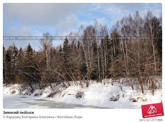 Зимний пейзаж, фото № 217906, снято 3 февраля 2008 г. (c) Карасева Екатерина Олеговна / Фотобанк Лори