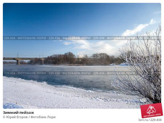 Зимний пейзаж, фото № 229434, снято 2 января 2008 г. (c) Юрий Егоров / Фотобанк Лори