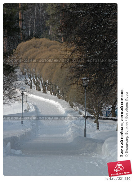 Зимний пейзаж, легкий снежок, фото № 221610, снято 8 марта 2005 г. (c) Владимир Воякин / Фотобанк Лори