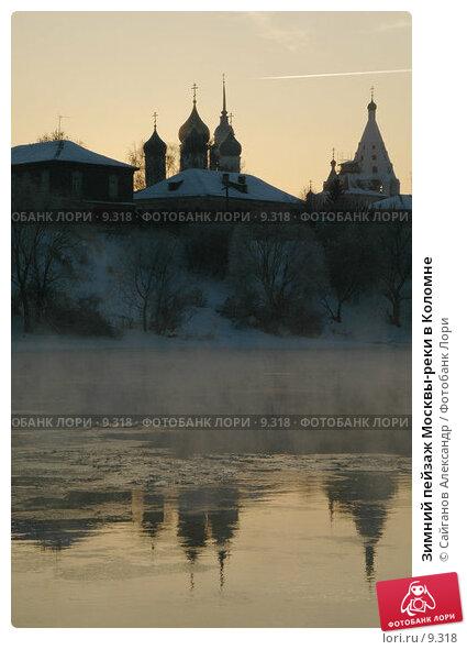 Зимний пейзаж Москвы-реки в Коломне, фото № 9318, снято 11 января 2005 г. (c) Сайганов Александр / Фотобанк Лори