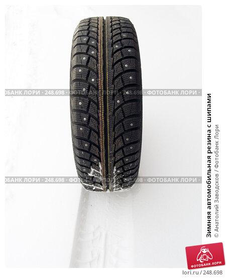 Зимняя автомобильная резина с шипами, фото № 248698, снято 14 ноября 2007 г. (c) Анатолий Заводсков / Фотобанк Лори