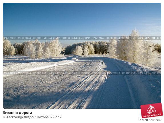Зимняя дорога, фото № 243942, снято 8 января 2008 г. (c) Александр Лядов / Фотобанк Лори