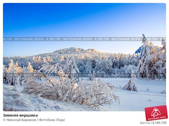 Зимняя вершина. Стоковое фото, фотограф Николай Бирюков / Фотобанк Лори