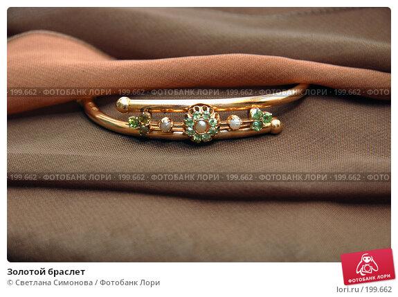 Золотой браслет, фото № 199662, снято 6 февраля 2008 г. (c) Светлана Симонова / Фотобанк Лори