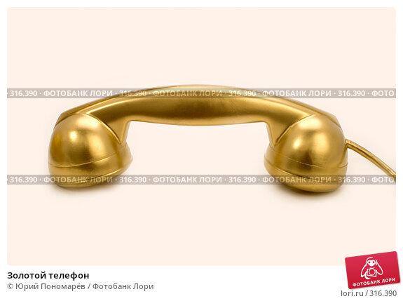 Купить «Золотой телефон», фото № 316390, снято 6 июня 2008 г. (c) Юрий Пономарёв / Фотобанк Лори
