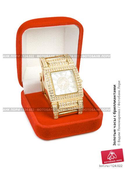 Золотые часы с бриллиантами, фото № 124022, снято 3 ноября 2007 г. (c) Вадим Пономаренко / Фотобанк Лори